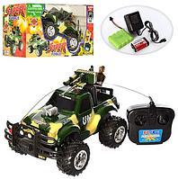 Машина-джип,  на аккумуляторе, радиоуправляемый,военный.Игрушечная машинка на радиоуправлении.
