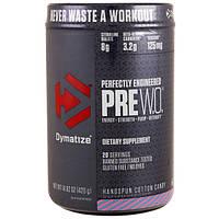 Dymatize Nutrition, Pre W.O., Сахарная вата ручной работы, 14,82 унции (420 г)