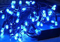 Гирлянда 300 LED на прозрачном проводе цвет синий