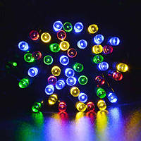Гирлянда 300 LED на прозрачном проводе цвет мультик