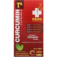 Redd Remedies, Куркумин T4, колосовая мята, 60 жевательных таблеток