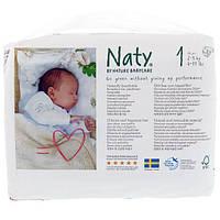 Naty, Подгузники, Размер 1, 4-11 фунтов (2-5 кг), 26 штук