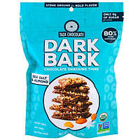 Taza Chocolate, Органические ломтики из темного коричного шоколада для перекуса, Морская соль и миндаль, 80% темный, 4,2 унции (119 г)