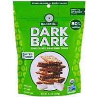 Taza Chocolate, Органические тонкие ломтики темного шоколада для перекуса, Кокос в виде тостов, 80% темный, 4,2 унции (119 г)