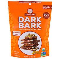 Taza Chocolate, Органический темный коричный шоколад, тонкие ломтики для перекуса, Тыквенные семечки, 80% темный, 4,2 унции (119 г)