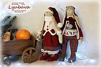Авторская кукла пара новогодних  тильда зайчиков