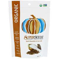 SuperSeedz, Тыквенные семечки для гурманов, Органический продукт, Темный шоколад и морская соль, 4 унции (113 г)