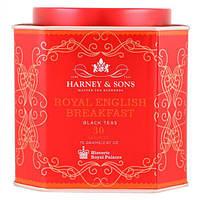 Harney & Sons, Королевский английский завтрак, черный чай, 30 пакетиков, по 2,67 унц. (75 г) каждый