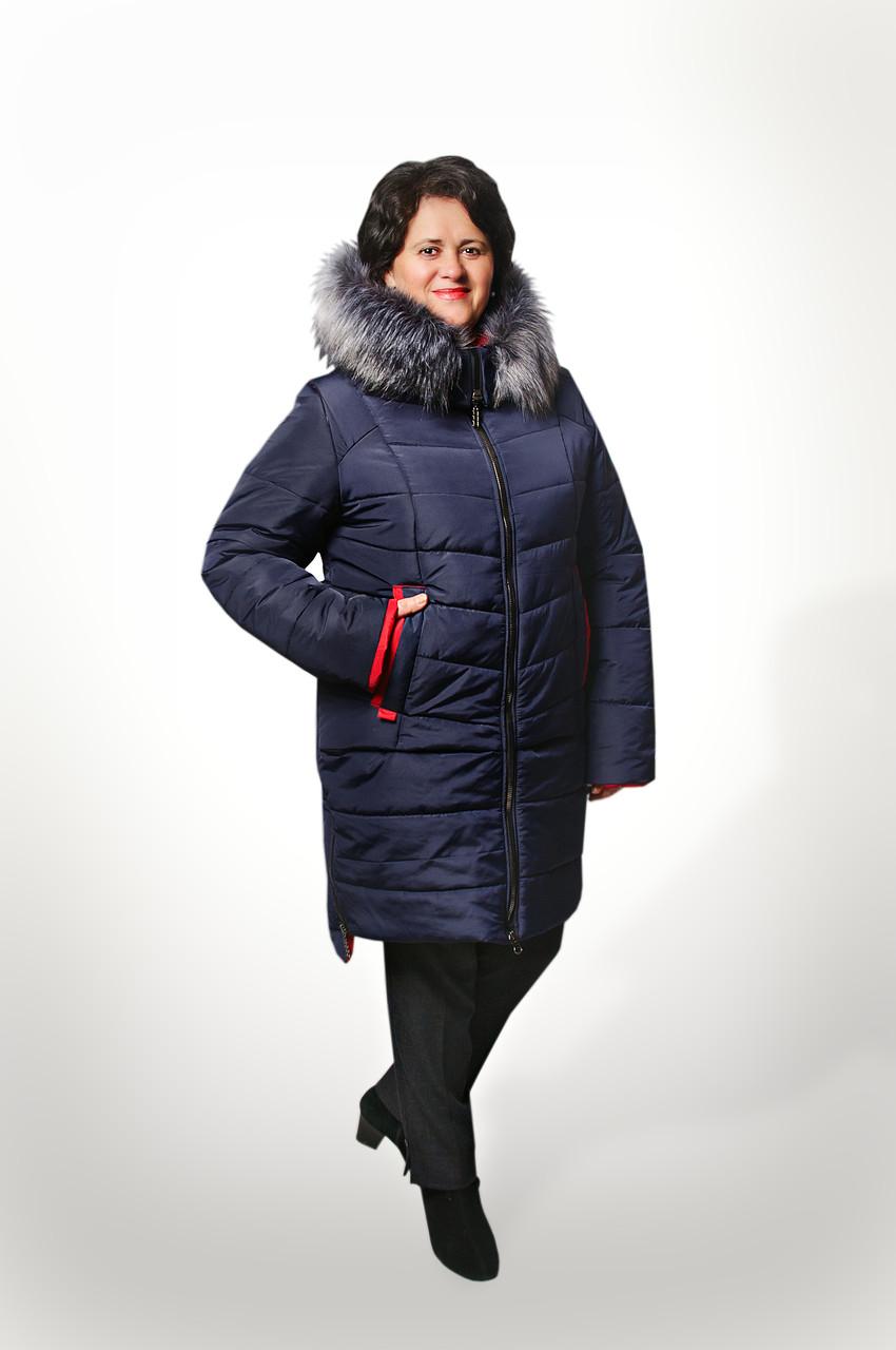 Женская куртка батал на холлофайбере Даша