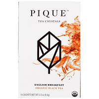 Pique Tea, Английский завтрак, черный чай органического происхождения, 12 пакетиков, 8,4 г (0,3 унции)