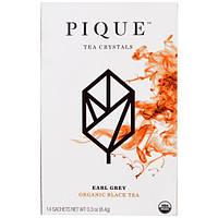 Pique Tea, Эрл грей, органический черный чай, 14 саше, 0.3 унции (8.4 г)