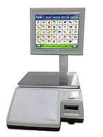 Весы торговые CAS CL-7200S-2 до 30 кг, с печатью этикеток, со стойкой