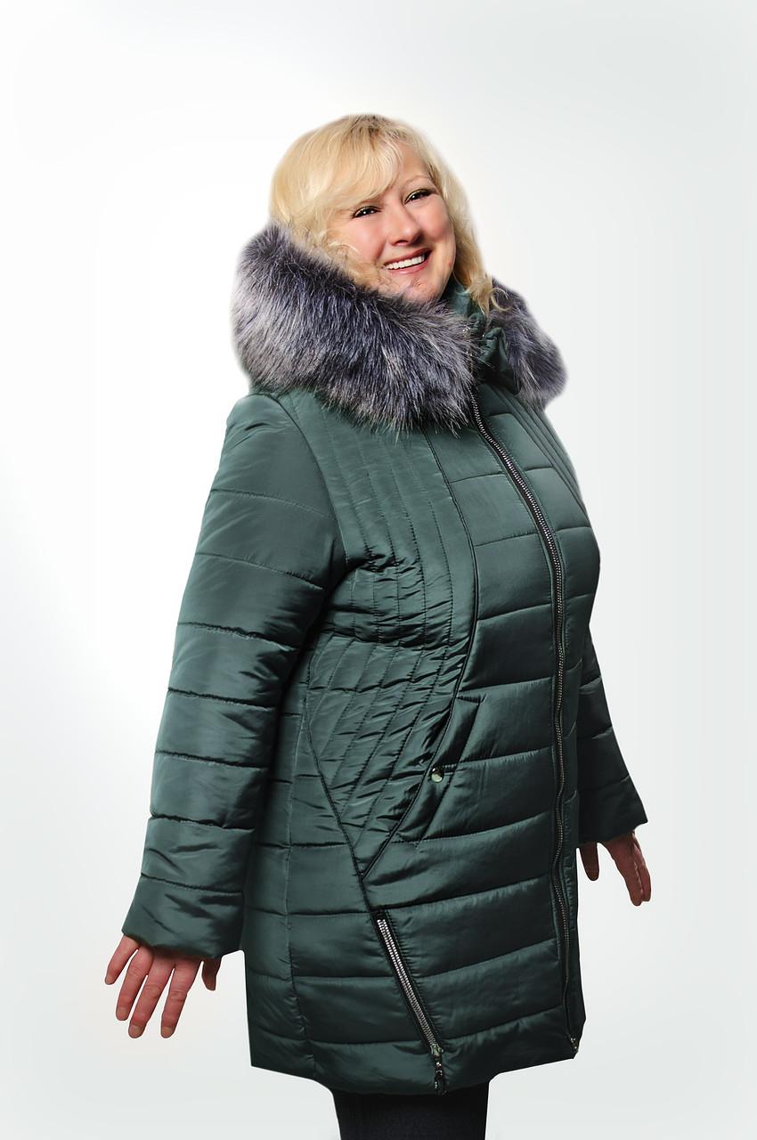 Женская куртка большого размера Валиде (рр.56-62)