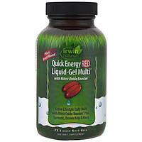 Irwin Naturals, Красные гелевые капсулы с жидким содержимым для быстрого получения энергии, 72 капсулы с жидким центром