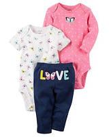 Набор из 2х боди и штанишек для девочки Carters (США)
