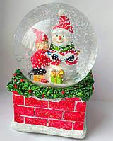 Музыкальный заводной новогодний шар со снежинками, новогодняя мелодия
