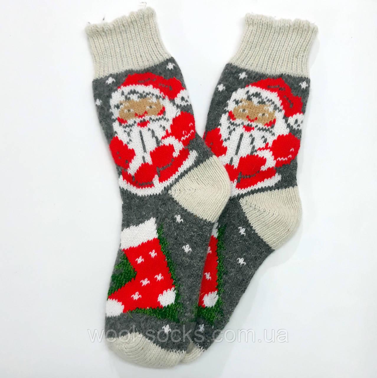 Носки из ангоры шерстяные новогодние