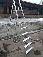 Лестница б/у алюминиевая на 8 ступенек