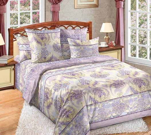 Двуспальный евро комплект постельного белья (перкаль) Анита, фото 2