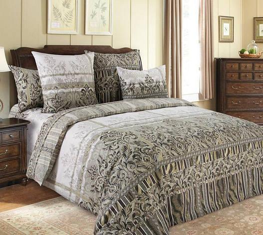 Двуспальный евро комплект постельного белья (перкаль) Бакарди, фото 2