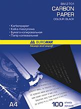 Бумага копировальная BUROMAX А4 (100 листов) черная
