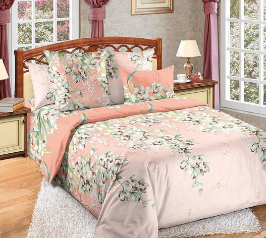 Двуспальный евро комплект постельного белья (перкаль) Лиана, фото 2