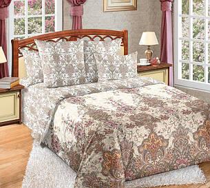 Двуспальный евро комплект постельного белья (перкаль) Муза, фото 2