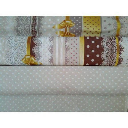 Двуспальный евро комплект постельного белья (перкаль) Ненси, фото 2
