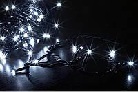 Новогодняя гирлянда сетка 120 LED на прозрачном проводе цвет белый(холодный)