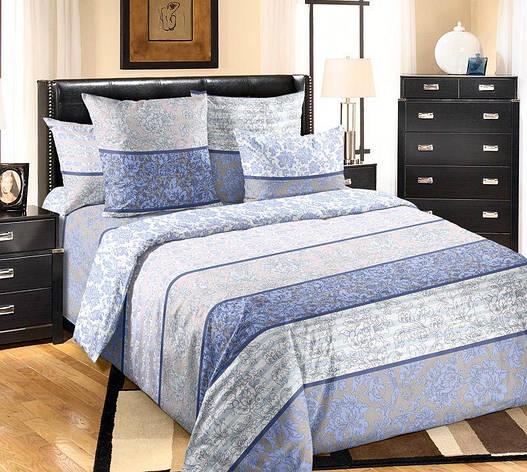 Двуспальный евро комплект постельного белья (перкаль) Узоры, фото 2