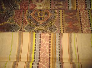 Двуспальный евро комплект постельного белья (поплин) Караван, фото 2