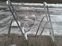 Лестница б/у алюминиевая на 3 ступенек