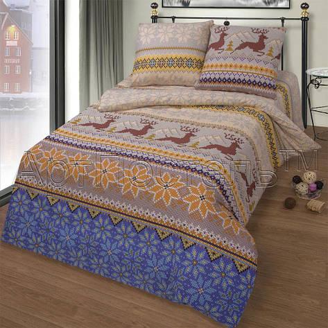 Двуспальный евро комплект постельного белья Норвежская сказка, фото 2
