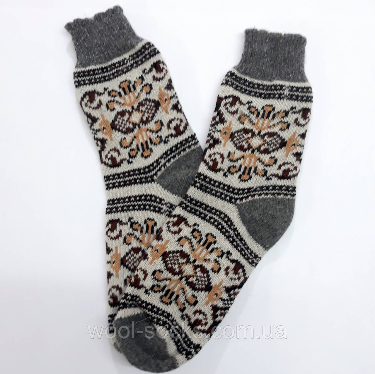 Носки из овчины вязаные