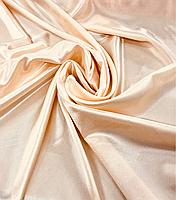 Креп-сатин цвет пудра 150см ширина для пошива платьев, блузок, юбок, карнавальных костюмов, украшения залов, п