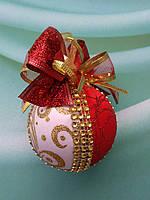 Новогодний красный шар на елку. Новогодний подарок ., фото 1