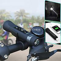 Портативный Bluetooth вело фара динамик LED фонарик радио колонка micro sd power bank акустика