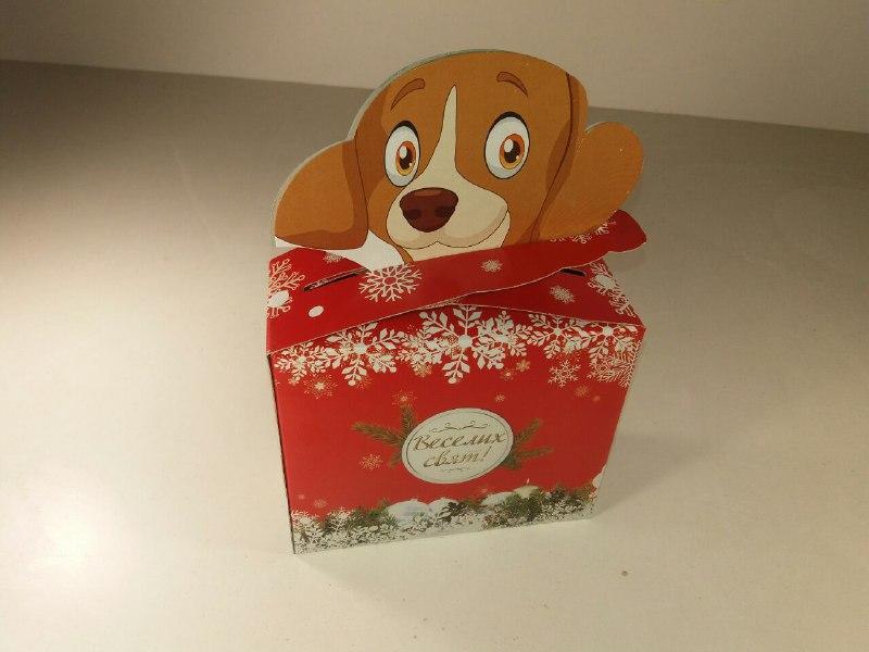 Коробка под конфеты №017(Песик 700гр)