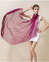 Шелковый шарф фуксия