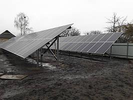 пгт. Иванково, Киевская область, сетевая солнечная электростанция под зеленый тариф 30 кВт Huawei + ИБП