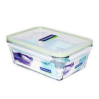 Стеклянный контейнер для хранения с герметичной крышкой с креплениями Glasslock, 2350 мл., прямоугольный (MCRW-235)