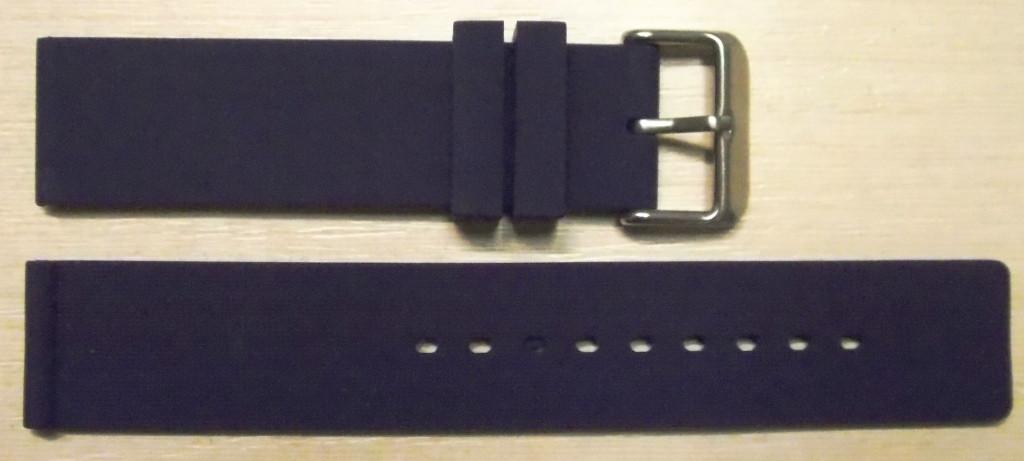 Ремешок каучук (Польша) 20 мм. Синий