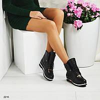 """Зимние женские черные ботинки """"Milano"""". 36"""