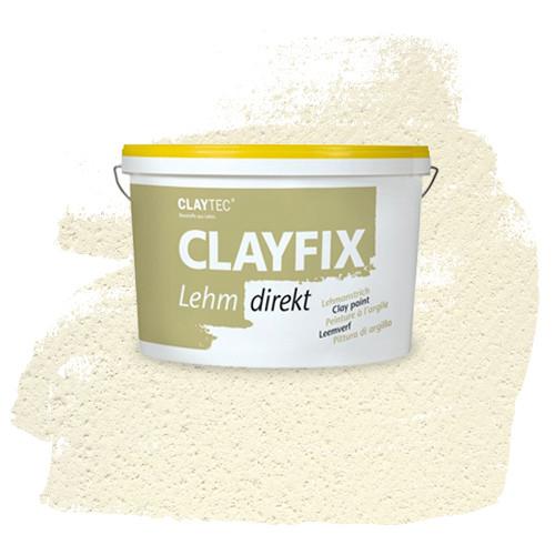 Декоративная глиняная краска- штукатурка CLAYFIX 0 белая, 10 кг