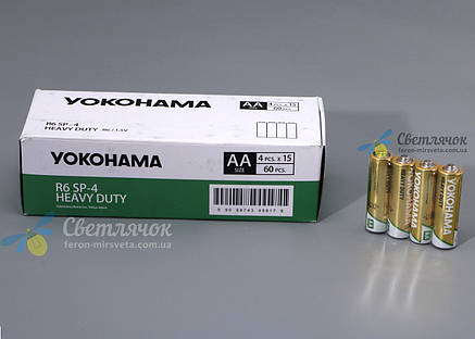 Батарейка R6 1.5V HEAVY DUTY(солевая) YOKOHAMA, фото 2