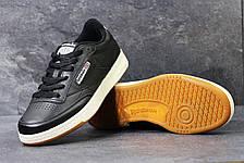 Мужские кроссовки Reebok кожаные,черные с белым, фото 3