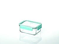 Стеклянный контейнер для хранения с герметичной крышкой с креплениями Glasslock, 1100 мл., прямоугольный, (MCRB-110P)