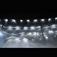 Новогодняя гирлянда сетка 240 LED на прозрачном проводе цвет белый (холодный)