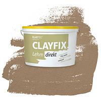 Декоративна глиняна фарба - штукатурка CLAYFIX 2.0 натурально-коричневий, 10 кг
