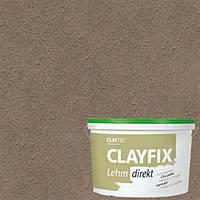 Декоративная глинянная краска мелкозернистая CLAYFIX 2.0 натурально-коричневый, 10 кг